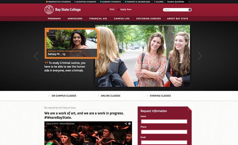 graded reviews of the best college website design examples